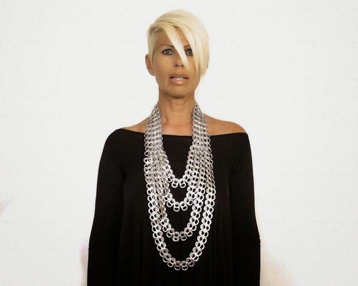 donneinpink- fai da te e consigli per gli acquisti: Creare opere d'arte da indossare riciclando le linguette delle lattine.