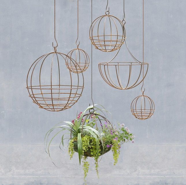 Show Off Your New Air Plants With A Trendy, Copper Hued Hanging Planter.