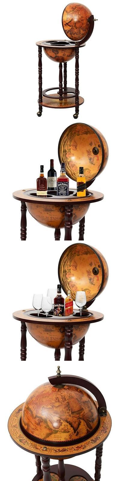 Wine Racks and Bottle Holders 20689: World Globe Wine Cabinet Bar Map Liquor Nautical Stand Mini Rolling Holder Decor -> BUY IT NOW ONLY: $85.47 on eBay!