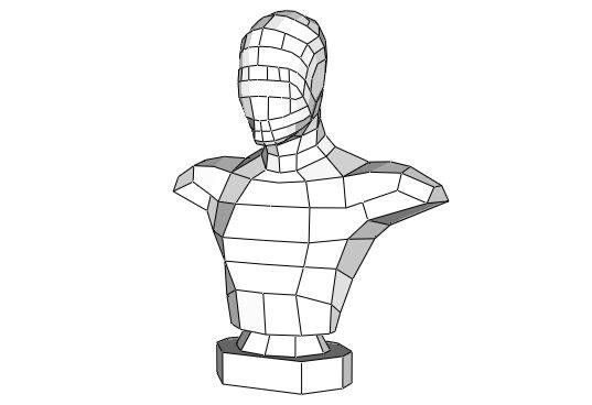 Mannequin Bust Free Papercraft Download - http://www.papercraftsquare.com/mannequin-bust-free-papercraft-download.html#Bust, #Mannequin