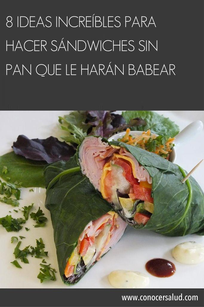 8 ideas increíbles para hacer sándwiches SIN PAN que le harán babear #salud
