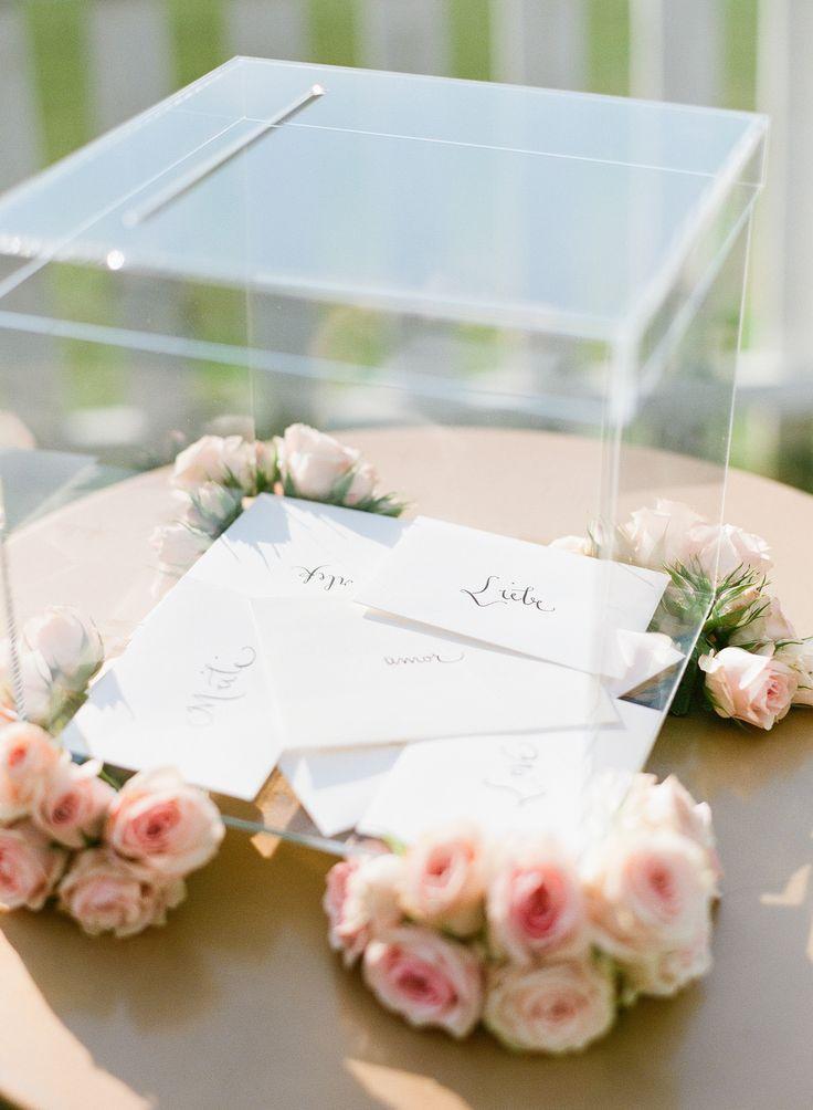 wood wedding card holders%0A Lucite card box    modern  wedding  romantic  clear  see through