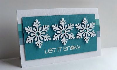 Made with  Martha Stewart Scandinavian snowflake punch, a sentiment from CAS-ual Fridays stamps.