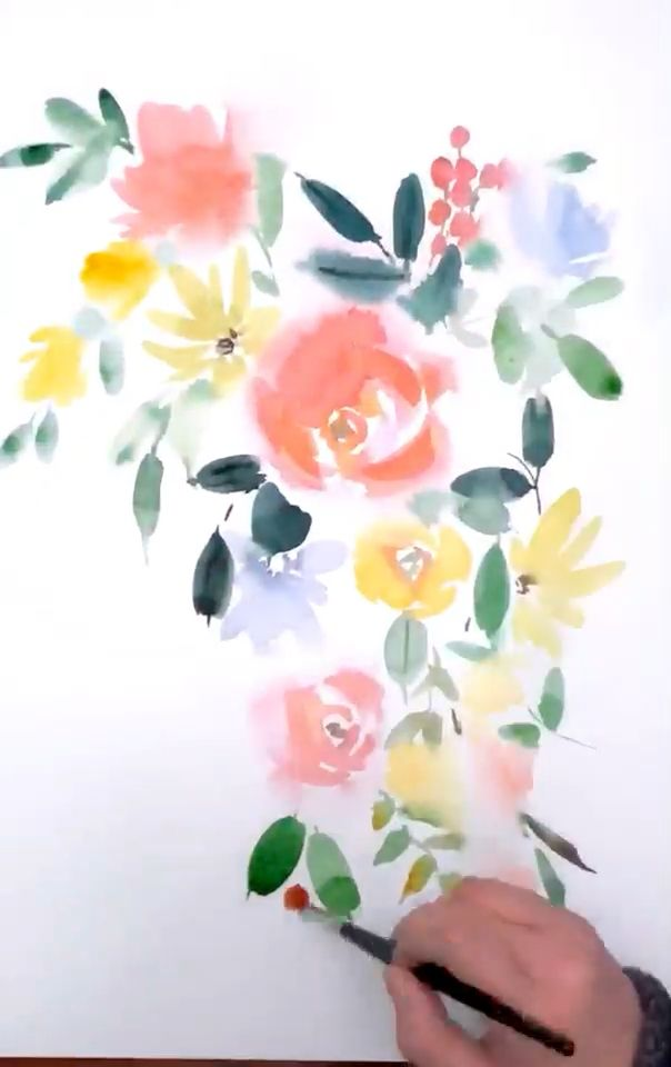 Watercolor Florals Watercolor Flowers Paintings In 2019 Floral