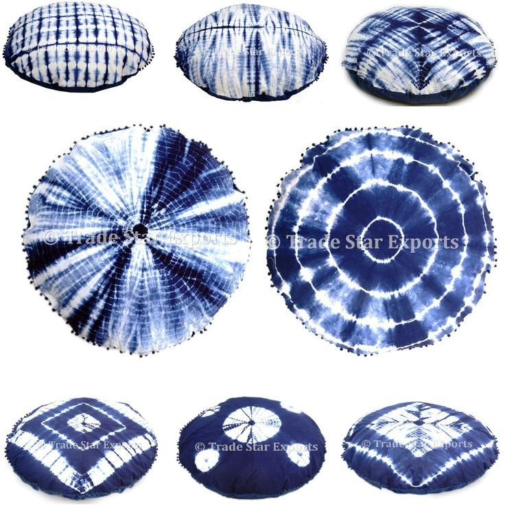 Indian Shibori Cushion Cover Christmas Throw Pillow Case Tie Dye Cushion Cover #Handmade #ArtDecoStyle