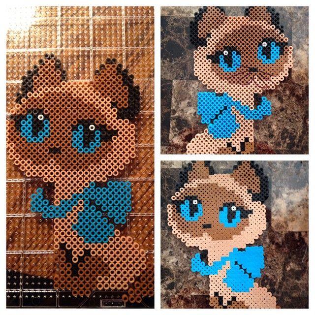 Kitty perler beads by bare4bnl