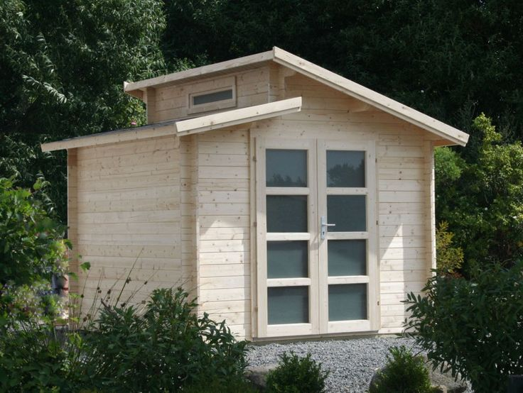 die 25 besten ideen zu gartenhaus mit pultdach auf. Black Bedroom Furniture Sets. Home Design Ideas