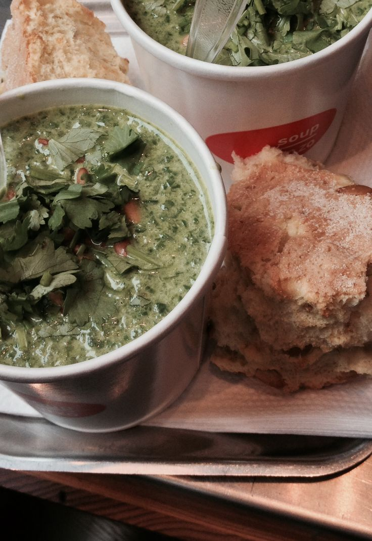 Spicy Spinach & Coconut soup with Dutch Corn Bread