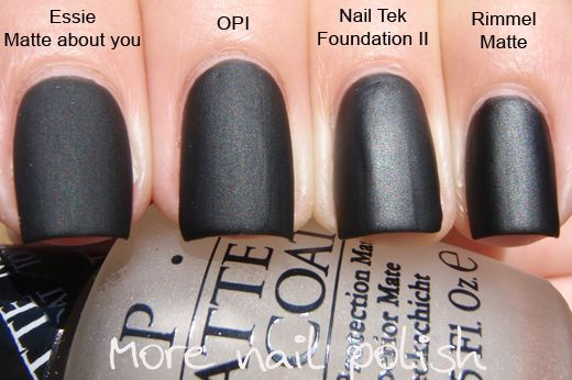 More Nail Polish: OPI Matte Top Coat & comparison