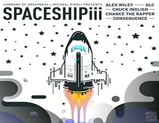 Alex Wiley, Chance The Rapper, GLC, Chuck Inglish & Consequence - Spaceship iii Consequence makes an appearance on Alex Wiley's version of 'Spaceship III.'The track also features Chance the Rapper, GLC, and Chuck Inglish. He
