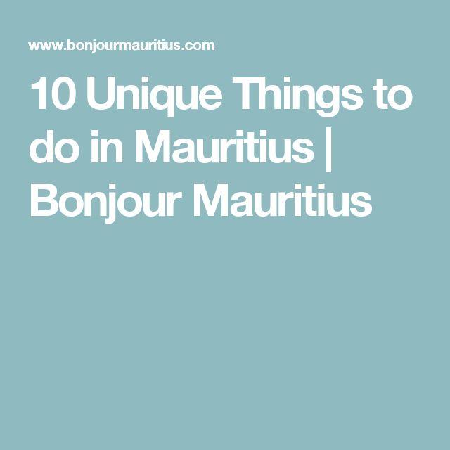 10 Unique Things to do in Mauritius   Bonjour Mauritius