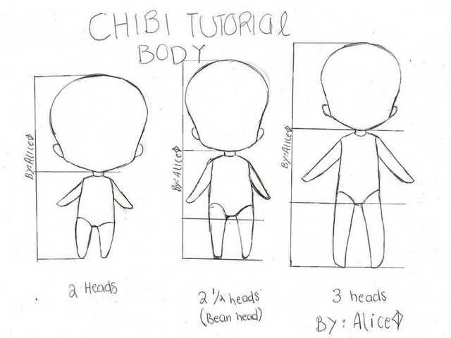 Wanna Start Drawing Chibis Are A Very Good Start Chibi Drawings Anime Drawings Tutorials Chibi Body