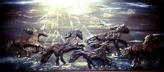 Ονειρώξεις επί.... ξύλου: πίνακας κολαζ με Θαλασσόξυλα και πηλό
