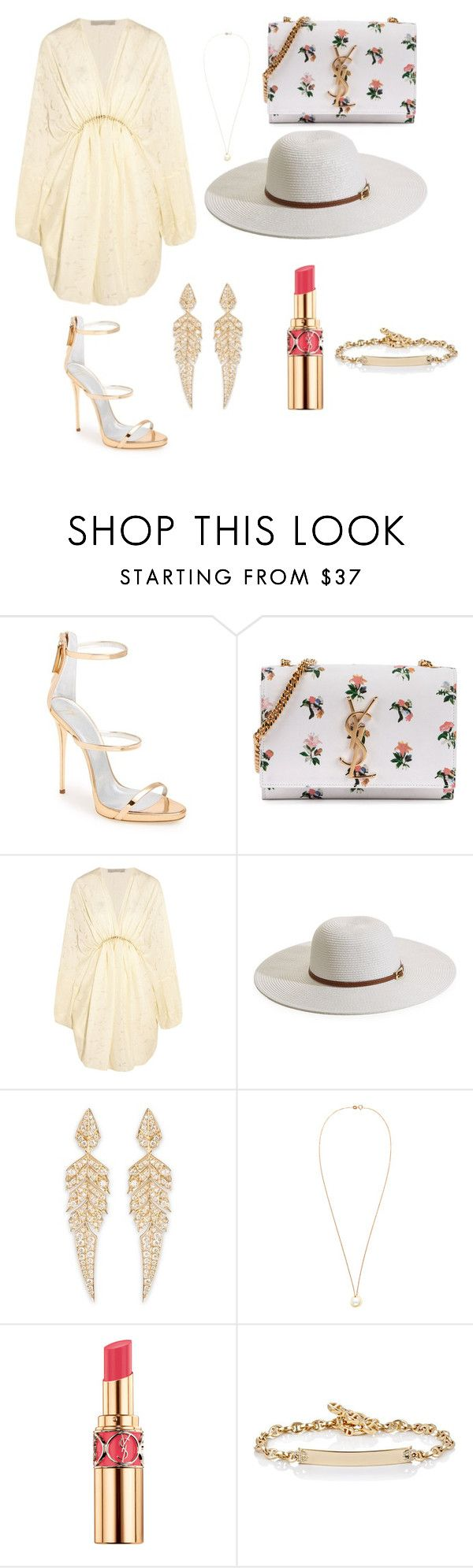 """""""Divine at the pool party"""" by carolyou ❤ liked on Polyvore featuring Giuseppe Zanotti, Yves Saint Laurent, STELLA McCARTNEY, Melissa Odabash, Stephen Webster, Hoorsenbuhs, women's clothing, women, female and woman"""