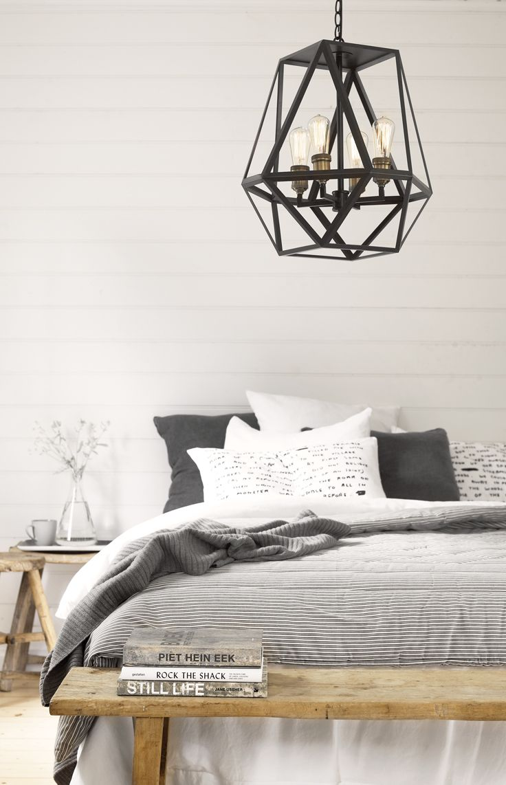 The Beacon Lighting Vaille 4 light pendant offers a classic styling. This pendant is beautifully designed with an exposed frame, oil rubbed bronze finish and aged copper lamp holders and would suit traditional and Industrial Country homes.