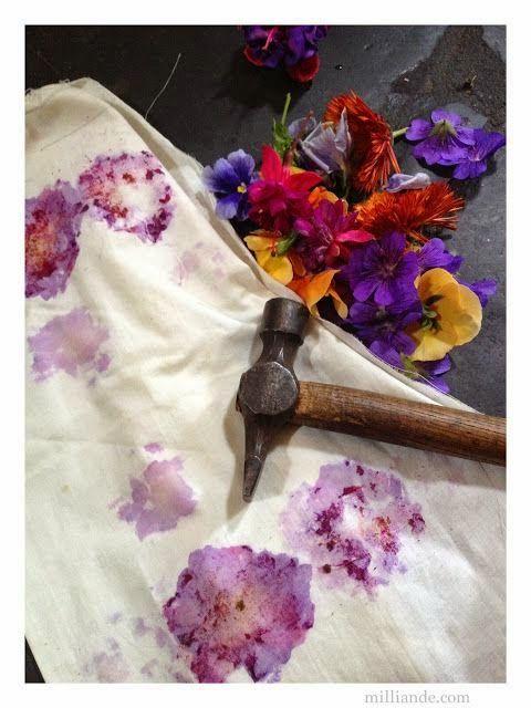 Flower Pounding TUTORIAL , Eco Dyeing Natural Textile
