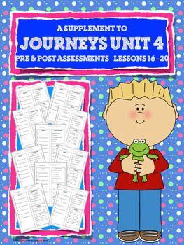 JOURNEYS FIRST GRADE Unit 4 Pre & Post Assessments