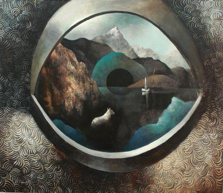 Visual artist Samuli Heimonen ELEGY. Acrylic and oil on canvas. 2011