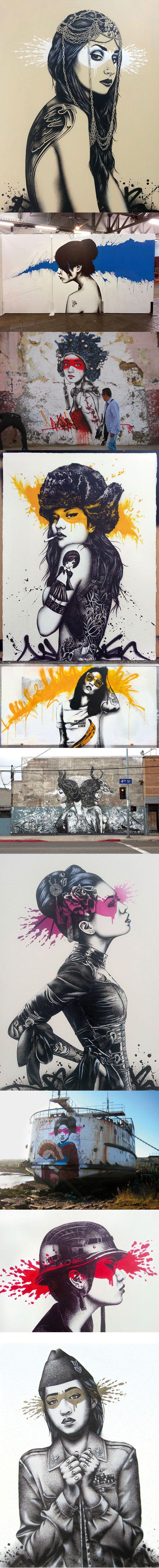 Le street art de Fin DAC est simplement sublime, gros coup de coeur pour les travaux de cet artiste qui asperge aussi son talent sur des toiles.