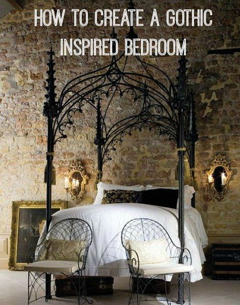 Gothic decor inspiration! Some great tips here if you want to create that lavish look in your bedroom.
