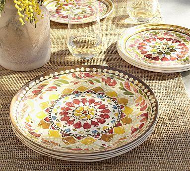 Barcelona Melamine Dinnerware, Set of 4 - Red #potterybarn
