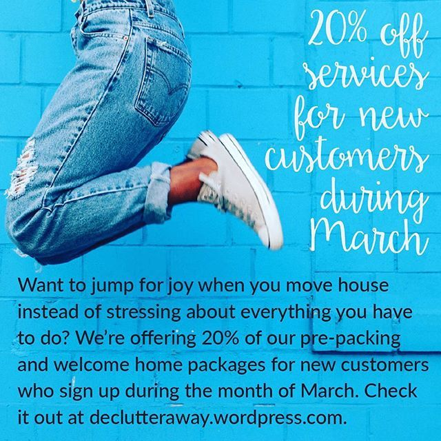 Need help with moving, cleaning, or decluttering? We're offering 20% off our services for the month of March for new customers. Visit www.declutteraway.wordpress.com for more details!  #recycle #home #house #declutter #decluttering #declutteringtips #declutteryourlife #professionalorganiser #professionalorganizer #organise #organize #organiser #organizer #smallbusiness #brisbane #brisbanesmallbusiness #bne #qld #qldhomes #brisbaneig #brisbanehomes #queensland #queenslander #tip #clean…