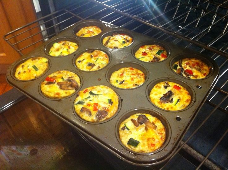 Vegetable Frittata Muffins: Kids will have fun whisking the eggs together with cheddar cheese and transferring the batter to muffin cups in this adorable breakfast-for-dinner. via JoyBauer.com #KidsCookMonday