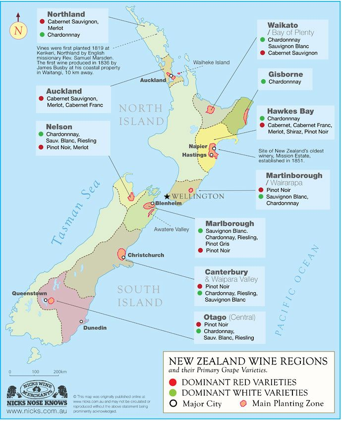 New Zealand - 2013 was slightly riper than 2012 in Marlborough, and 'nigh-on perfect' in much of the north island, especially Hawke's Bay, with a long, warm summer and no adverse weather - although early frosts did bring down yields for many.