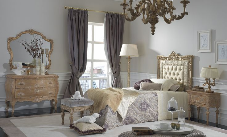 Decorate the bedroom in an elegant and unique style, recalling classic themes but with the potential to amaze