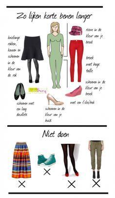 Zo lijken korte benen langer   www.lidathiry.nl   Klik op de foto voor meer tips #KorteBenen #kledingtip