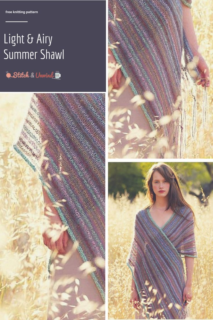 The Most Stunning Summer Knit Shawl Pattern Youll Ever See