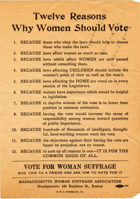why women have the right to vote Flashback: the fight for women's right to vote share  president wilson could move forward an amendment to the constitution that would guarantee the right to vote for most women across the .