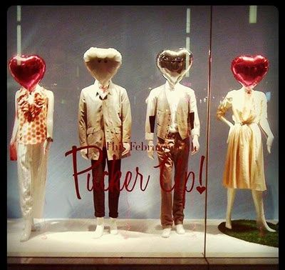 pucker up, holts window display