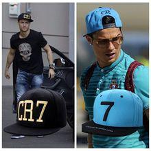 2 Couleurs 2015 Cristiano Ronaldo CR7 Noir Bleu Casquettes de Baseball hanche…