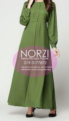 NBH0410 HASHINAH MAXI DRESS (NURSING FRIENDLY)