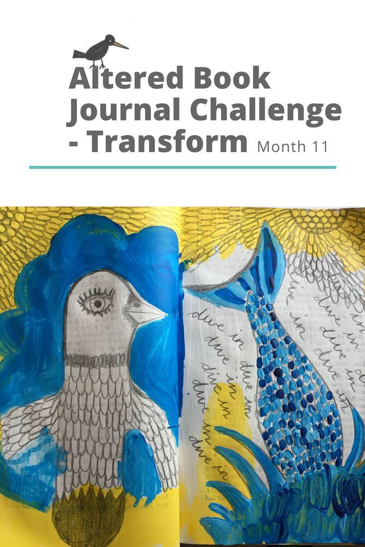 Altered Book Art Journal Challenge - Transform