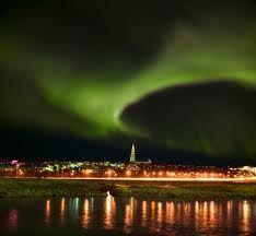 Reykjavik - northern lights.