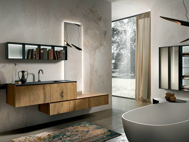 Design+, la nuova linea bagno firmata Edonè Legno, vetro e