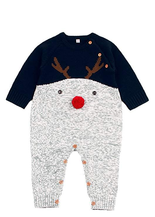 b5776d4fc Angekids Baby Winter Sweater Christmas Theme Deer Pattern Two Colors ...