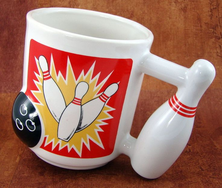 Emson 3d Bowling Ball Strike Mug Coffee Tea Cup Pin Handle