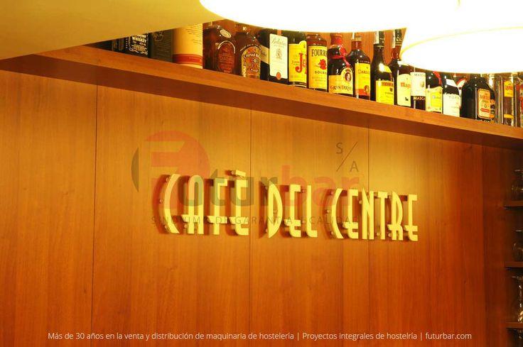 Tipografía realizada para Café del Centre en Barcelona. Un proyecto integral de hostelería realizado por futurbar.com