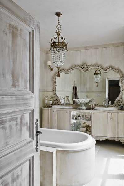 Master Bathroom -  rústico chique e provençal