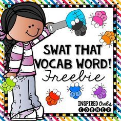 This vocabulary game is a favorite of my students! Each week I post our vocabulary words on the editable strips included in this file on my pocket chart. I call two students up at time, hand them a (clean) flyswatter, and I give either a definition, an antonym, a synonym, or a sentence clue about the word.