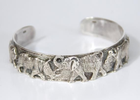 f12af0facda Reserved for LEE ANN - African Big 5 Animal Sterling Silver Cuff ...