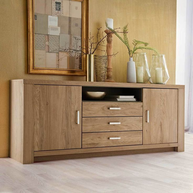die besten 25 sideboard eiche massiv ideen auf pinterest. Black Bedroom Furniture Sets. Home Design Ideas