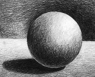 Work of art; value. The shading is a good example of value ...