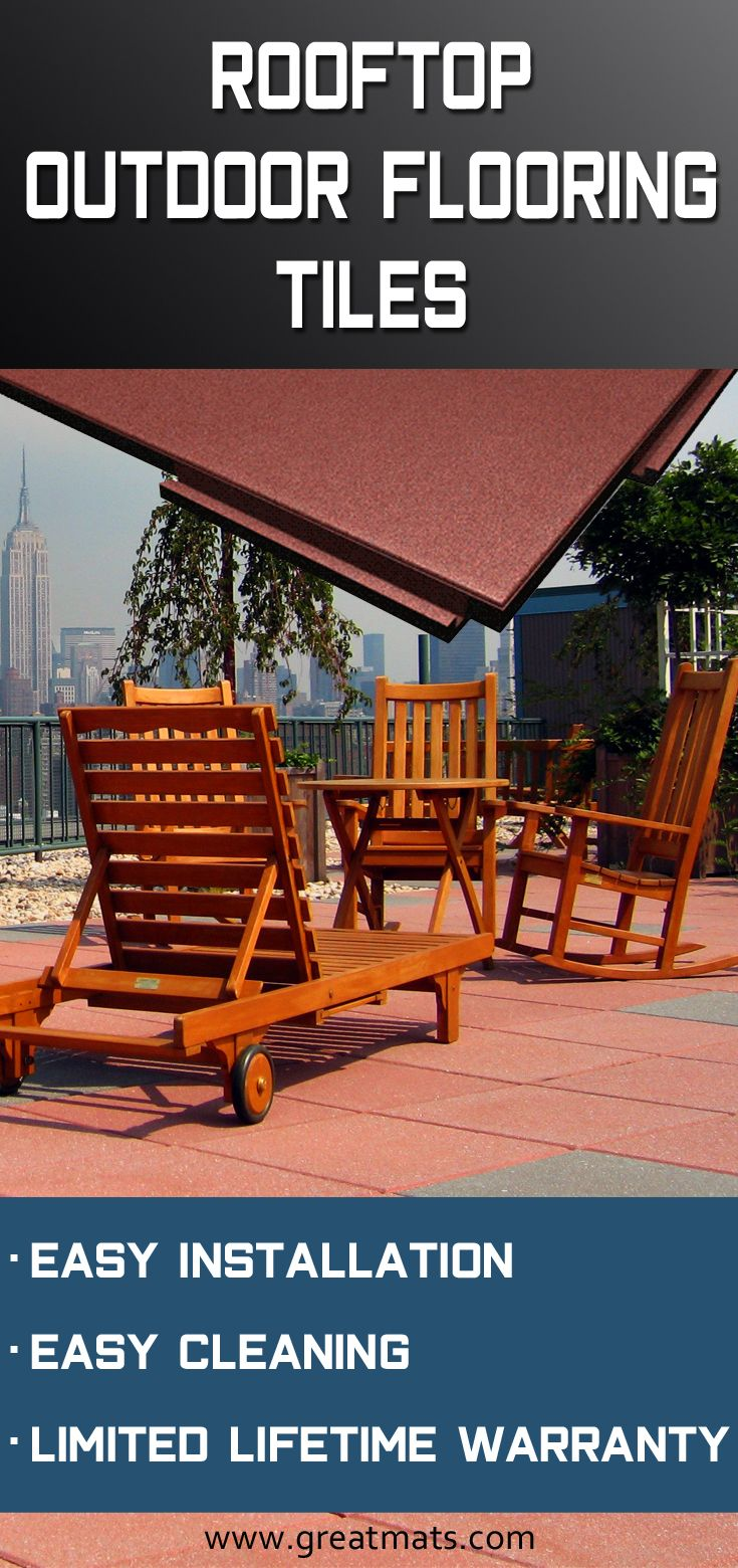 Sterling Roof Top Tiles Are Ideal For Rooftop Decks And Patios These