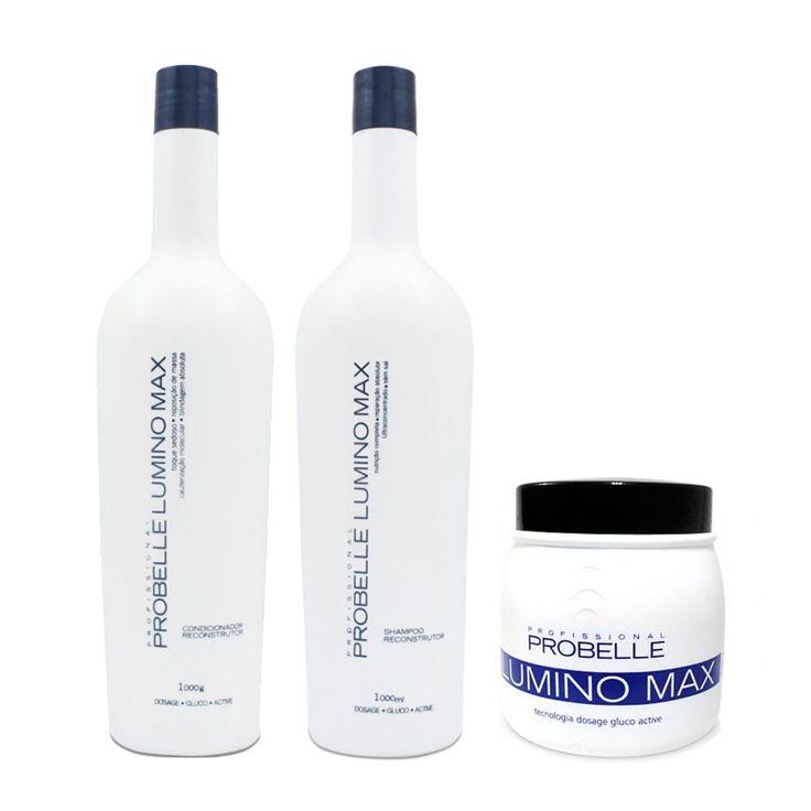 Probelle Profissional Lumino Max Kit 3 Produtos - www.novabela.com.br