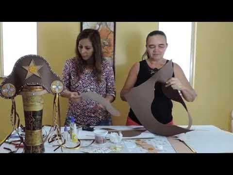 Como fazer chapéu de cangaceiro - bem fácil - YouTube