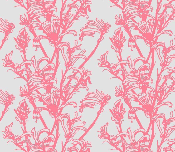 Kangaroo Paw - Fiesta/Ethereal textiles and wallpaper print